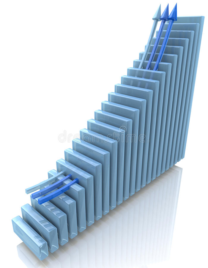Blue chart royalty free stock image