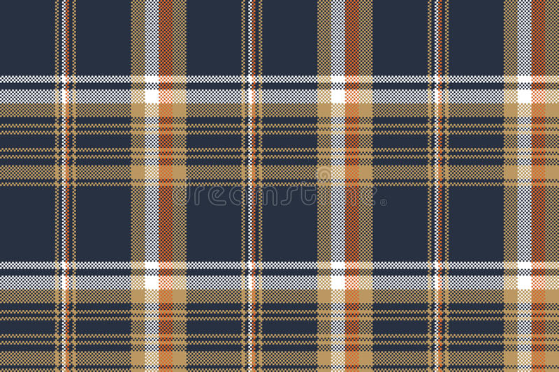 Blue check pixel fabric texture seamless pattern vector illustration