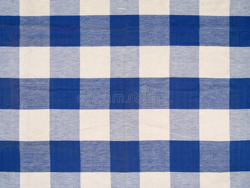 Download Blue checkered tablecloth stock photo. Image of fabric - 36646318
