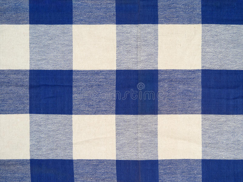 Download Blue checkered tablecloth stock image. Image of white - 36646341