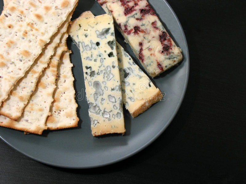 Download Blue cheese and crackers stock photo. Image of table, moldy - 524686