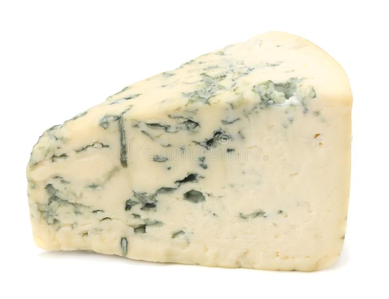 Blue cheese isolated on white background stock photos