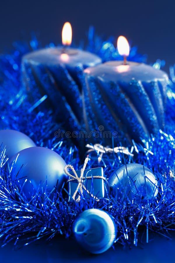 Blue Christmas royalty free stock photo