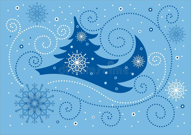 Download Blue christmas background stock vector. Image of drawings - 11494762