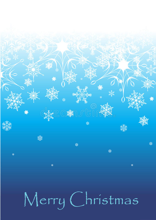Blue Christmas Background. Vector illustration of an abstract Christmas background with snowflakes and space for text vector illustration
