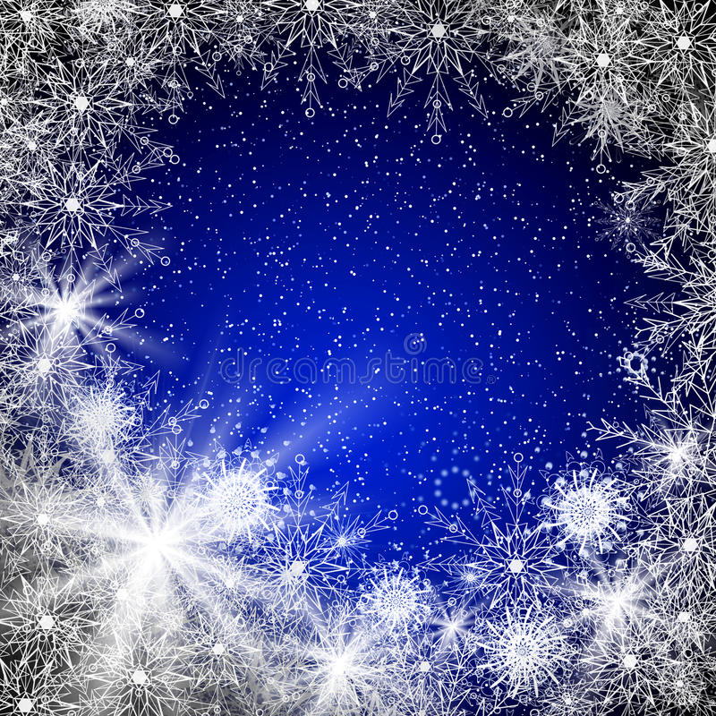 Blue Christmas background stock photos