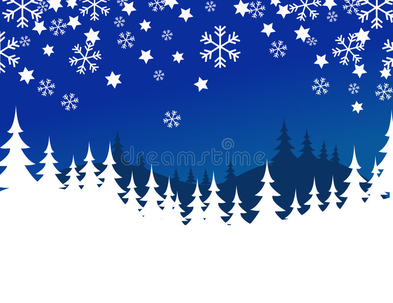 Blue Christmas background. Vector illustration stock illustration