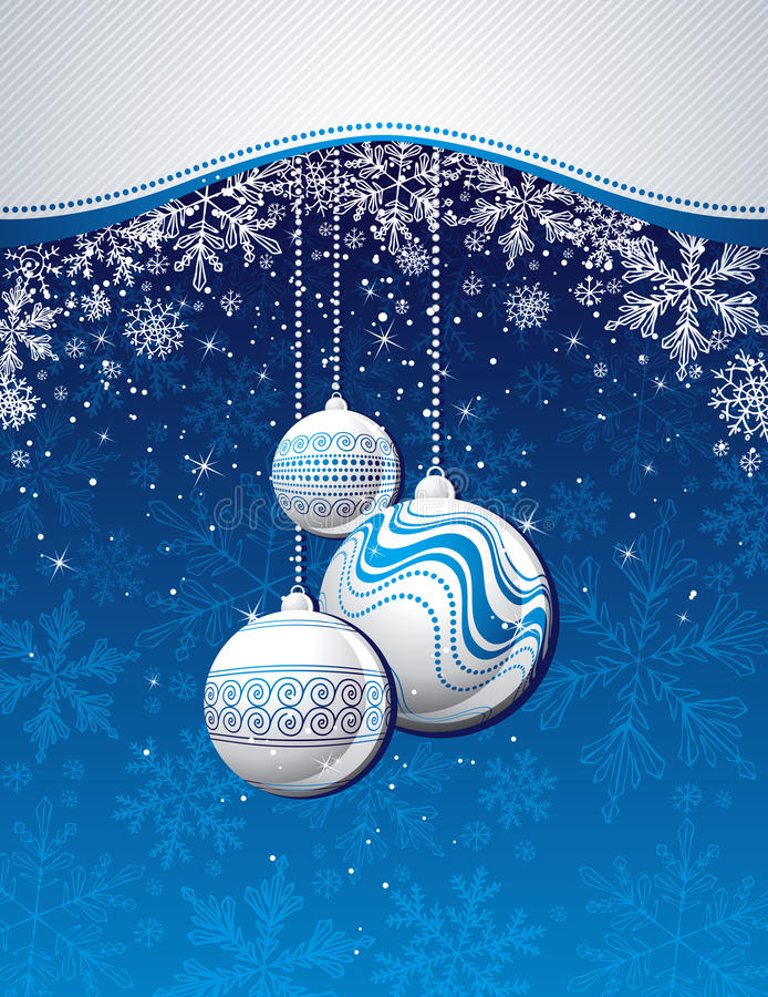 Download Blue  Christmas Background With Golden Balls Stock Vector - Illustration: 15923596
