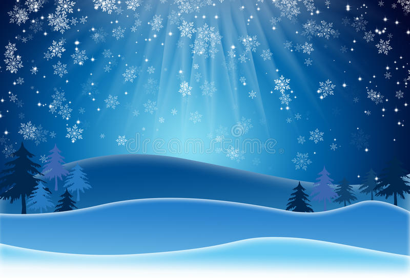 Download Blue Christmas Background With Snowflakes. Raster Version Stock Illustration - Illustration of december, raster: 63375629