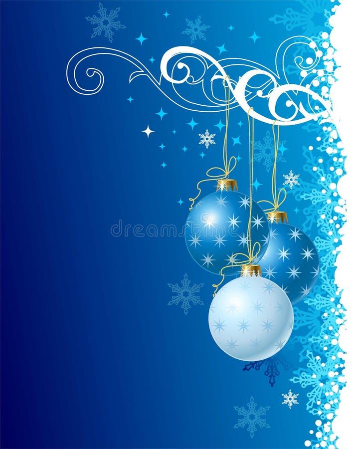 Blue christmas background / vector illustration stock illustration