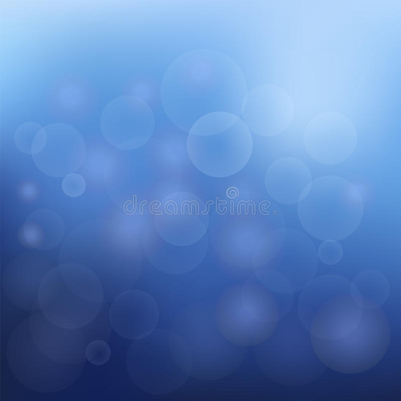 Blue Christmas Background With White Snowflakes vector illustration
