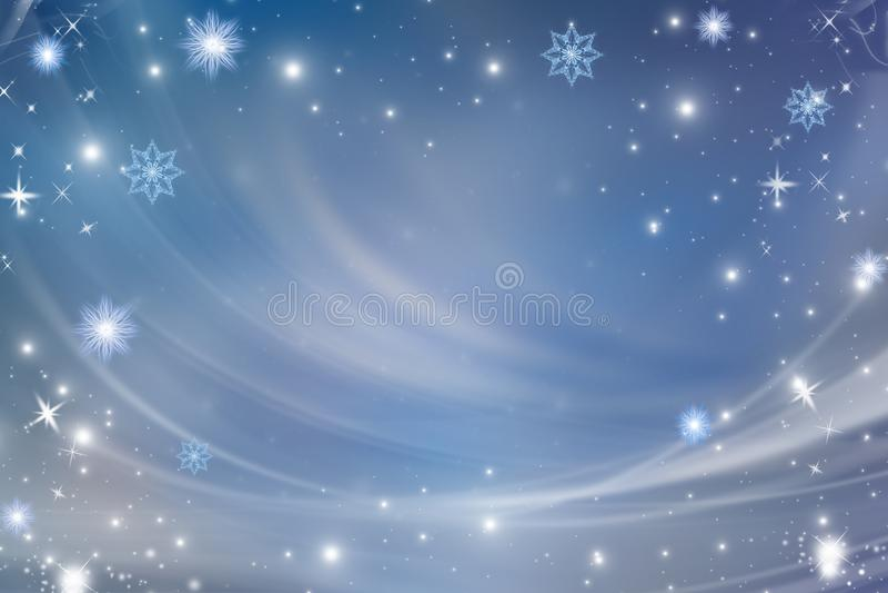 Blue christmas background stock illustration