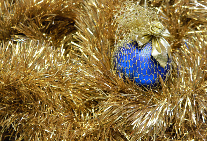 Download Blue christmas ball stock image. Image of golden, shadow - 25638689