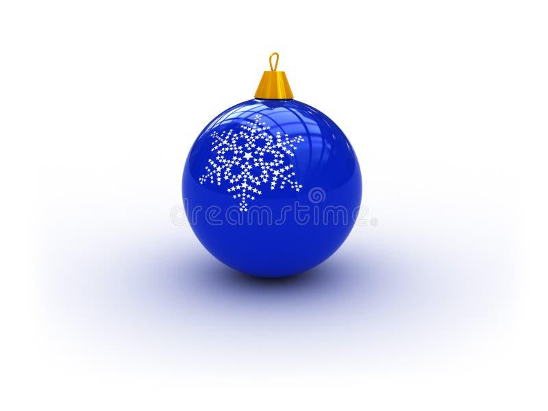 Download Blue christmas ball stock illustration. Illustration of glass - 6987257