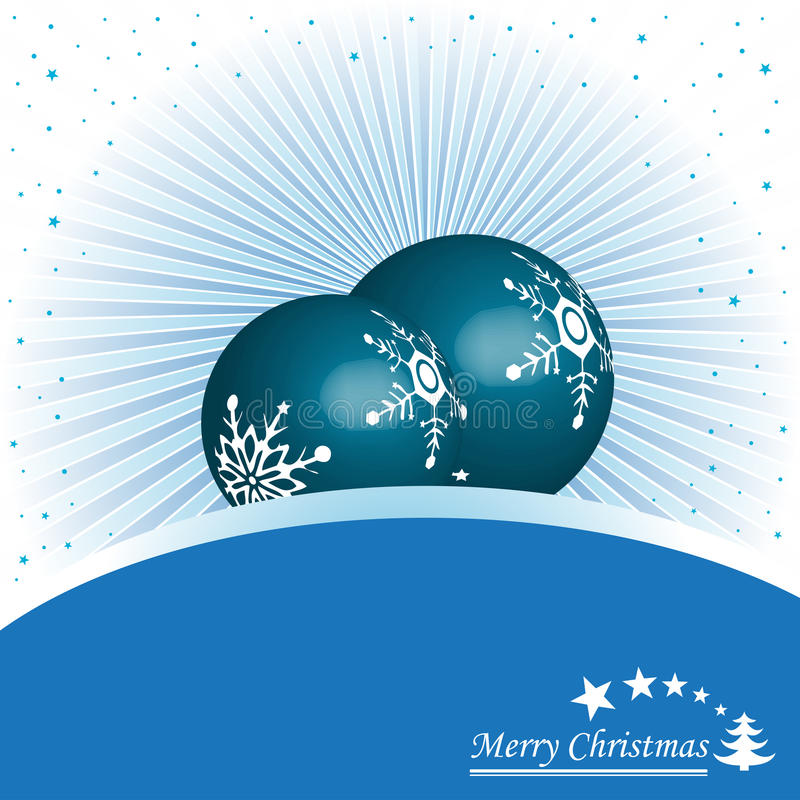 Download Blue Christmas balls stock vector. Image of background - 11639015