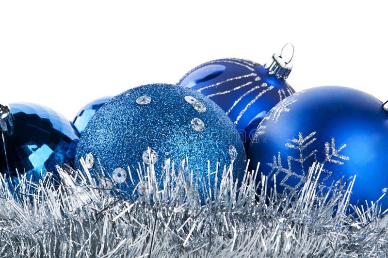 Download Blue christmas balls stock photo. Image of closeup, glass - 22024154