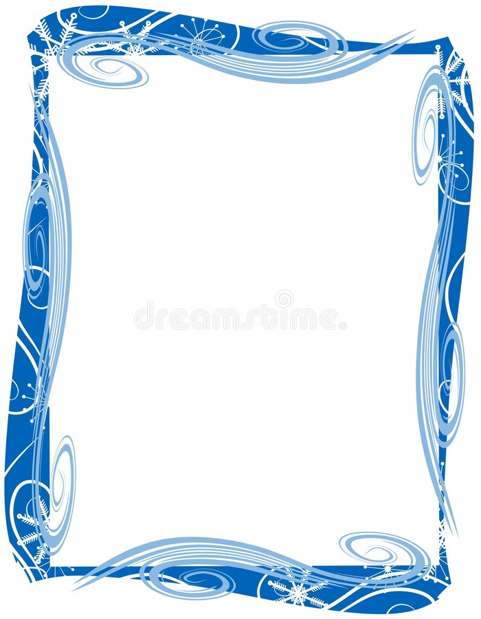 Download Blue Christmas Border Frame Stock Illustration - Image: 3550909