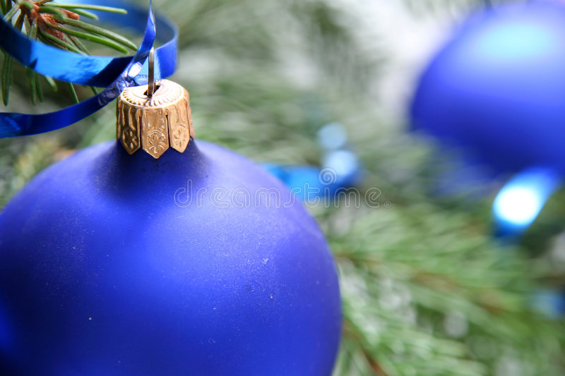 Blue christmas bulbs royalty free stock images