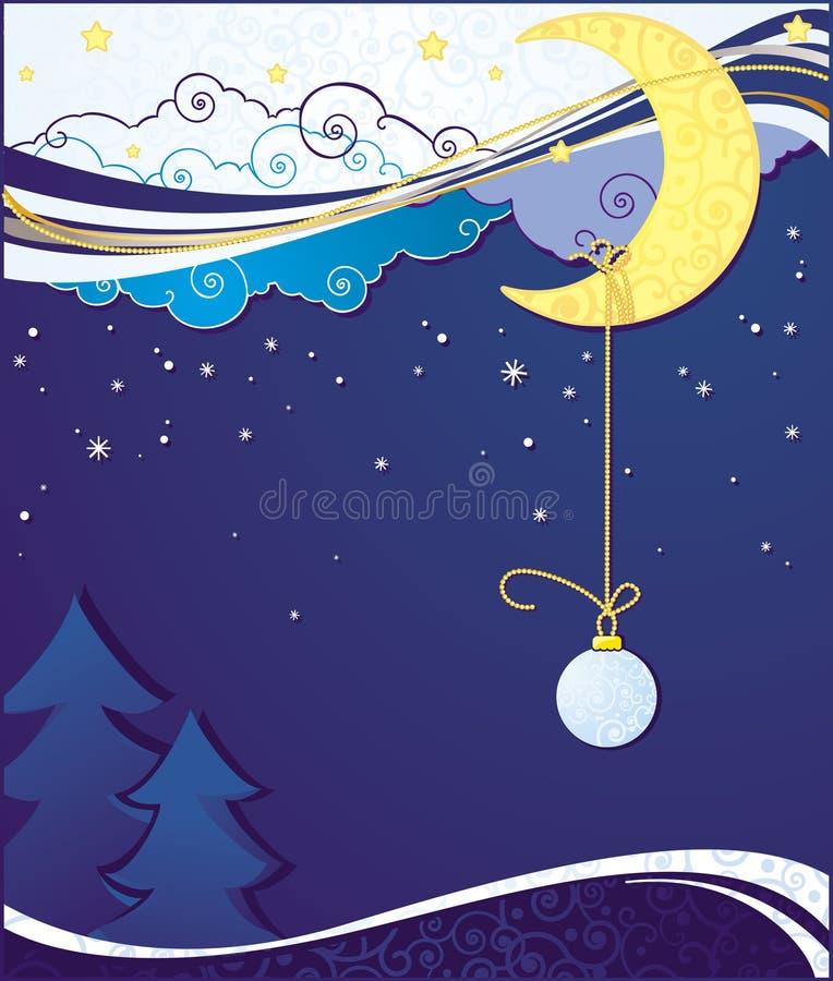 Blue Christmas Card Backgrounds stock illustration