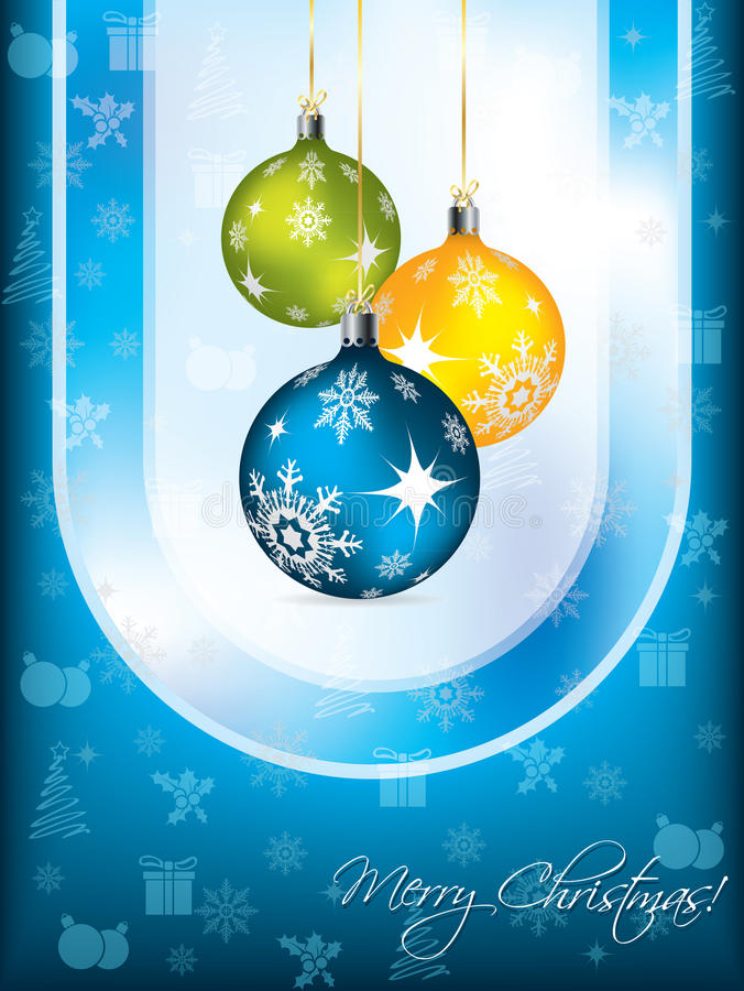 Download Blue Christmas Card Design Stock Photo - Image: 21334470