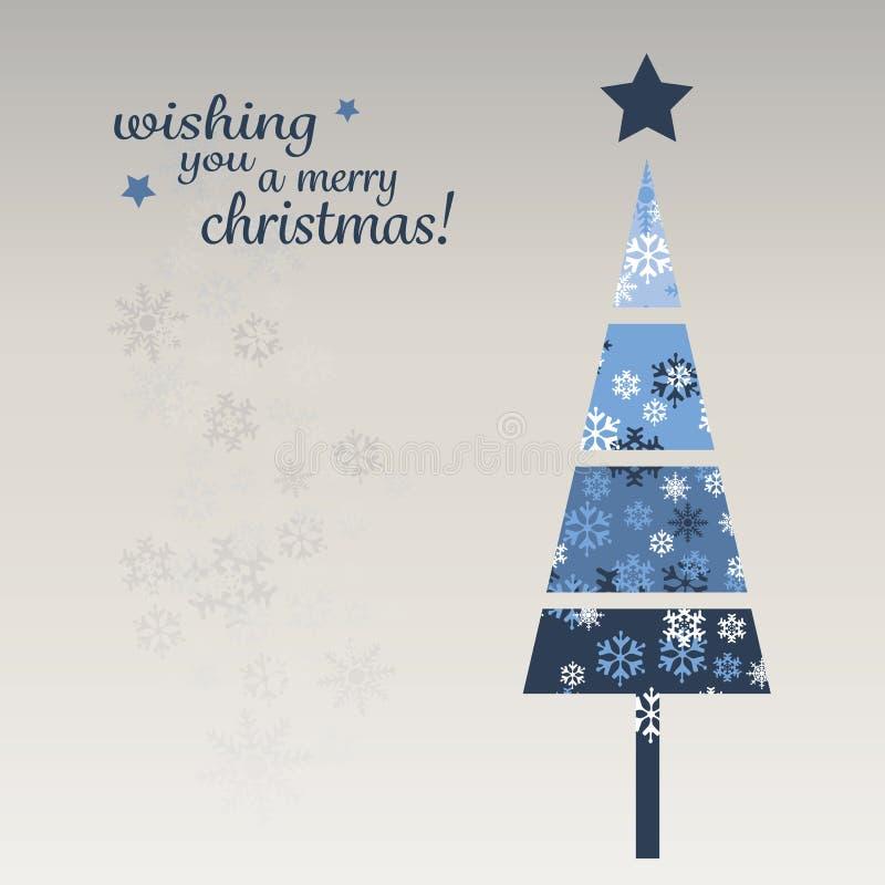 Blue Christmas Card Template Stock Vector Illustration Of Present - Christmas card template blue