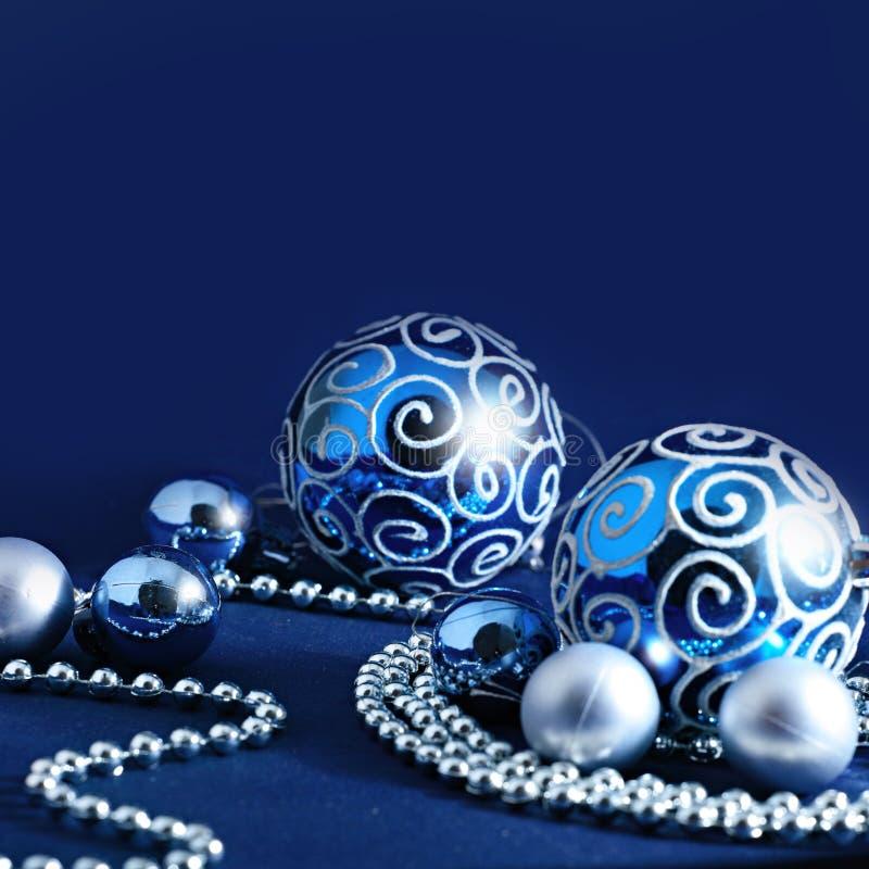 Blue Christmas decoration background royalty free stock image