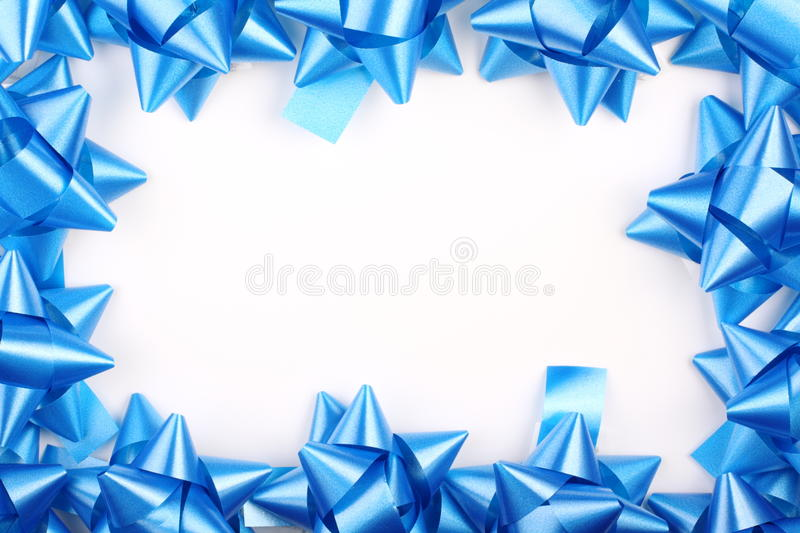 Download Blue Christmas Gift Bows stock photo. Image of white - 16596786