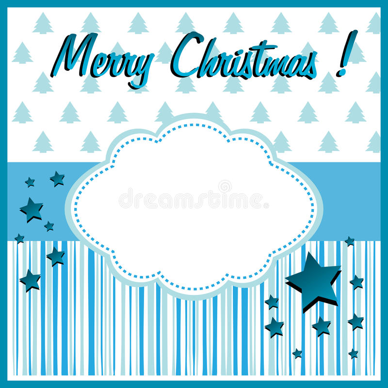 Blue Christmas greeting