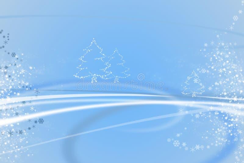Blue christmas illustration royalty free illustration