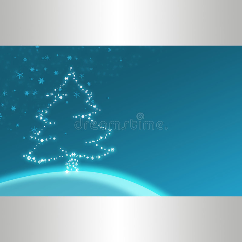 Blue christmas illustration vector illustration