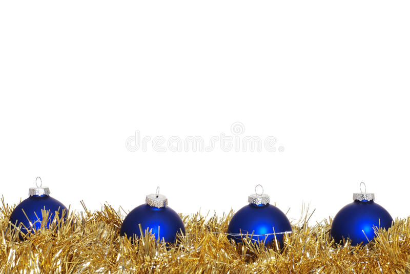 Blue Christmas Ornaments stock photography