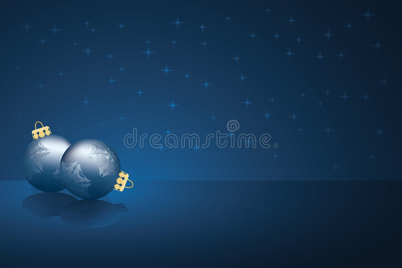 Download Blue Christmas Ornaments stock vector. Image of background - 6581527