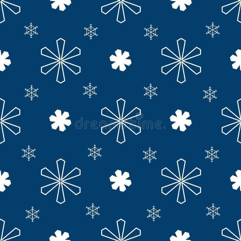 Blue christmas seamless pattern vector illustration