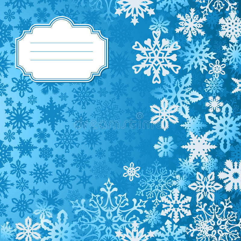 Blue Christmas Snowflakes Background Greeting Card Royalty Free Stock Photo