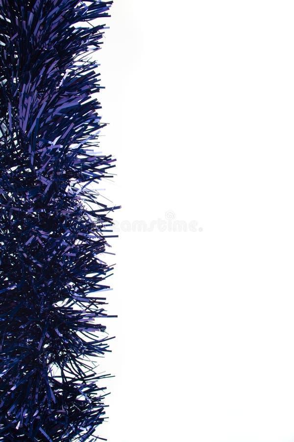 Blue christmas tinsel garland decoration