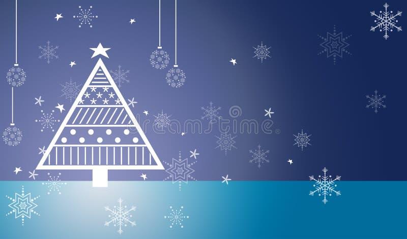 Blue Christmas tree royalty free stock photos