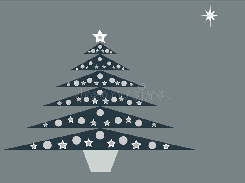 Download Blue Christmas Tree On Blue Background Stock Vector - Image: 11545269