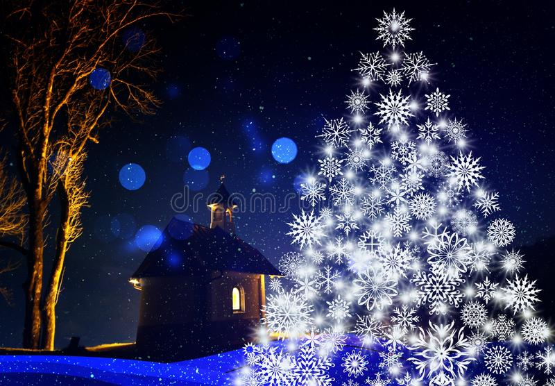 Blue, Christmas Tree, Nature, Winter stock image