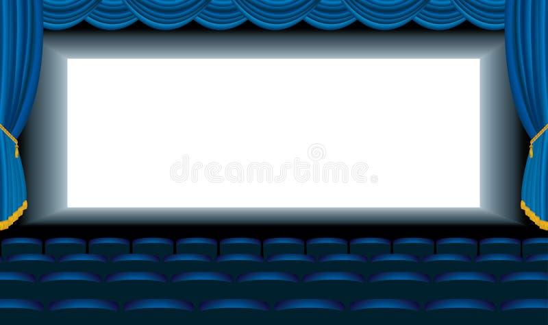 Blue Cinema Hall Royalty Free Stock Photography
