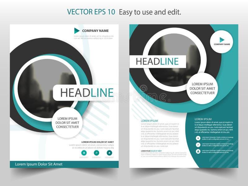 Blue Circle Brochure Annual Report Flyer Design Template Vector