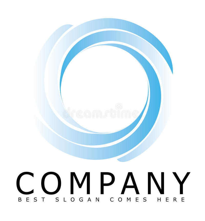Blue Circle Logo From Separate Parts Stock Illustration ...