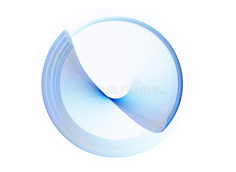Blue circle in motion, rotating stock illustration