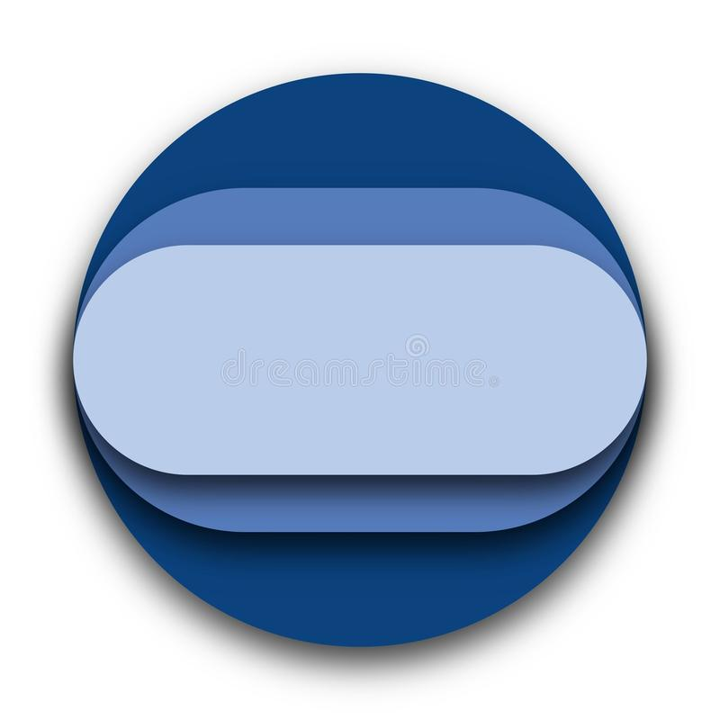 Blue Circle With Round Shapes Inside Vector royalty free stock photos