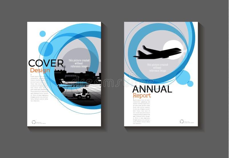 Blue Circle sottrae il libro moderno di progettazione moderna della copertura del fondo royalty illustrazione gratis