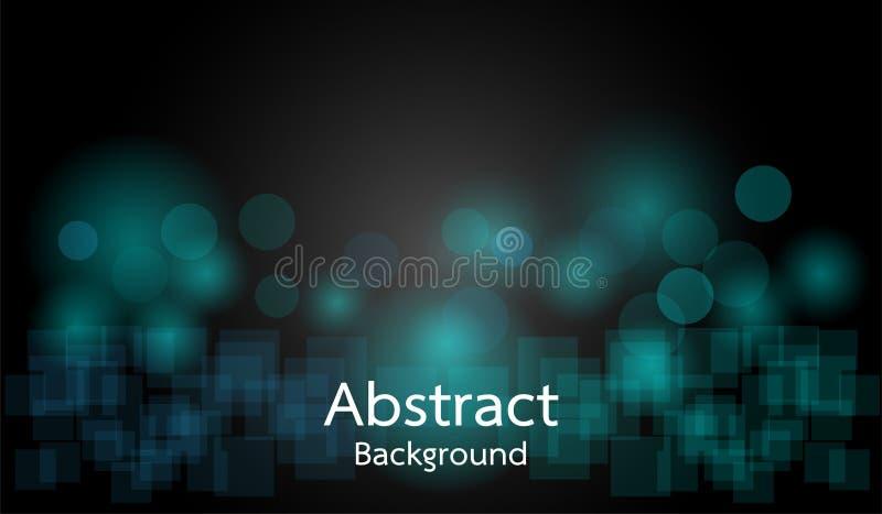 Blue Circle-Steigung auf schwarzem Hintergrund mit rechteckigem Hintergrund stock abbildung