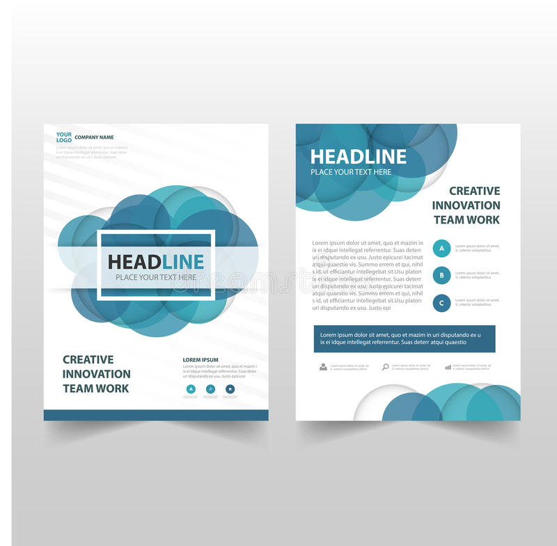 download blue circle vector annual report leaflet brochure flyer template design book cover layout design