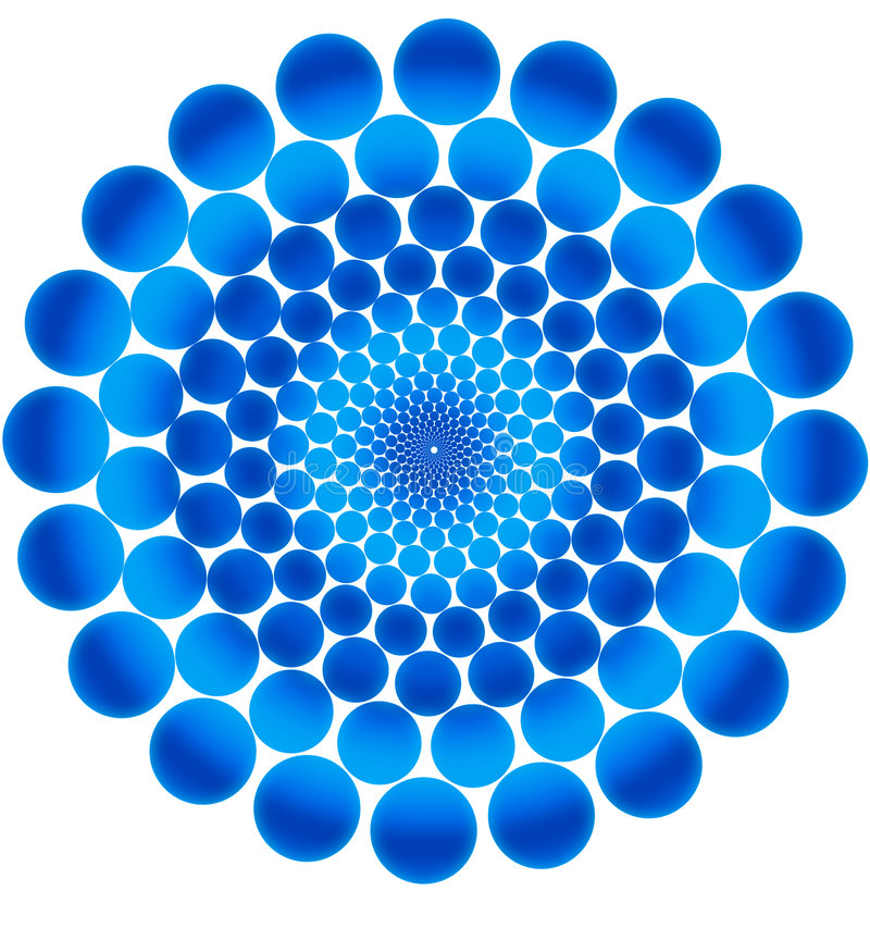 Blue circles. stock illustration