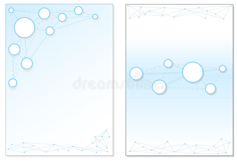 Blue circles in network stock illustration