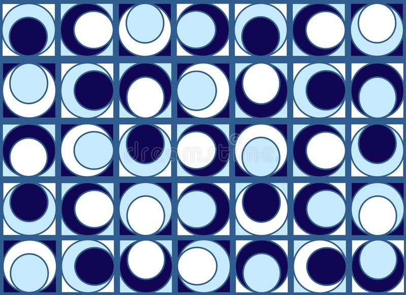 Download Blue circles pattern stock vector. Image of background - 2313398