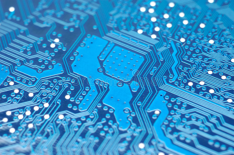 Blue circuit board royalty free stock photo